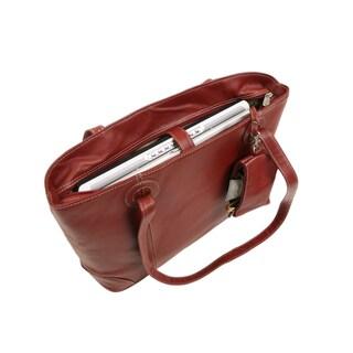 Piel Leather Women's Laptop Computer Tote Bag