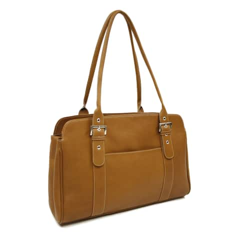 Piel Leather Women's Buckle Business Tote