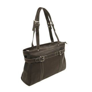 Piel Leather Belted Laptop Computer Tote