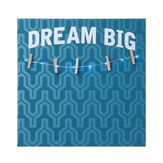 Melannco LED 'Dream Big' Photo Clip Board