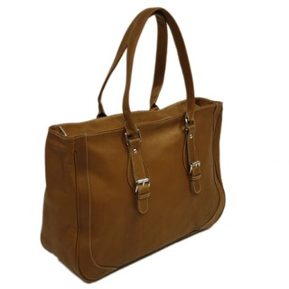 Piel Leather Shoulder Buckle Business Tote
