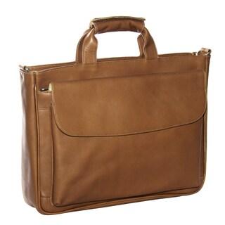 Piel Leather Top-Zip Laptop Briefcase