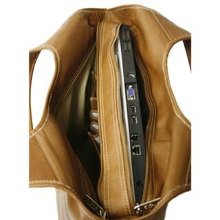 Piel Leather Laptop Hobo Bag
