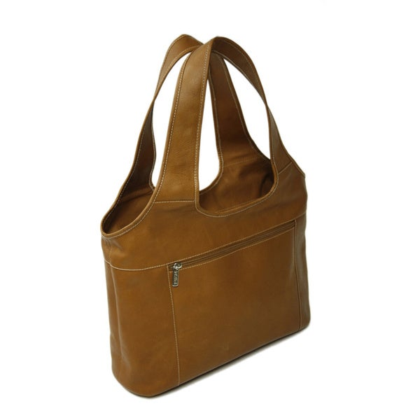 Piel Leather Laptop Hobo Bag - Free Shipping Today - Overstock.com ...