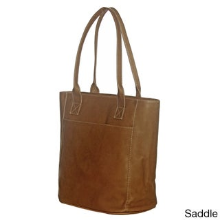 Piel Leather XL Laptop Tote Bag (Option: Brown)