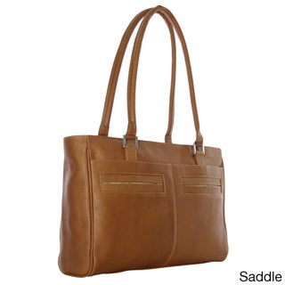 Piel Leather Women's Laptop Tote with Pockets (Option: Brown)