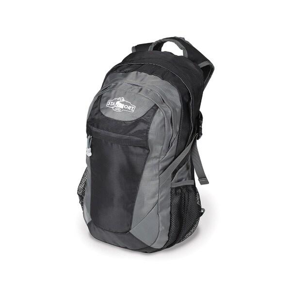 Stansport Aurora Black/ Grey Nylon Day Pack
