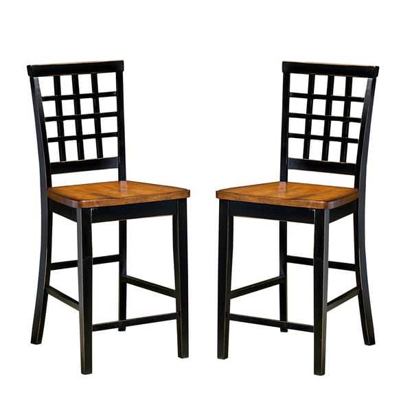 arlington lattice back and wood seat barstool set of 2 free shipping