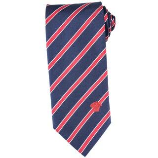 Versace 100-percent Italian Silk Red Stripe Neck Tie