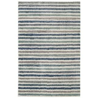 Havenside Home Orleans Stripe Blue Rug - 8' x 10'