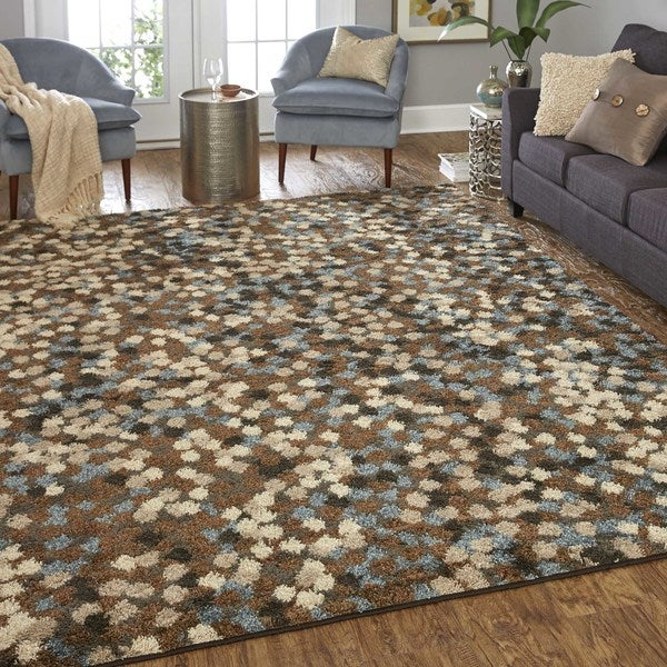 Neutral Dot Pattern Area Rug 8 X 10 Free Shipping