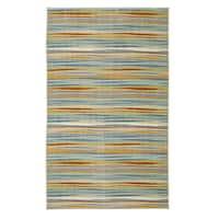 """Mohawk Home Aurora Confetti Stripes Cream - 7'6"""" x 10'"""