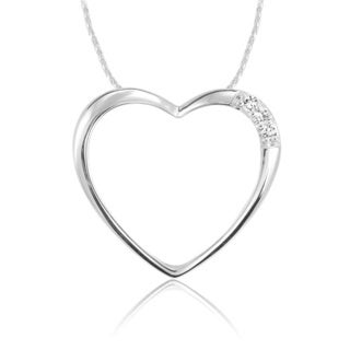 10k Gold Diamond Accent Heart Pendant Necklace
