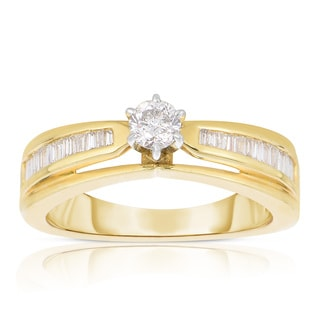 Eloquence 14k Yellow Gold 1/2ct TDW Diamond Engagement Ring (J-K, I1-I2)