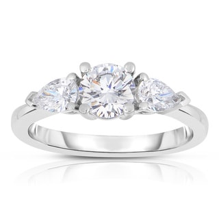 Eloquence 18k White Gold 1 1/4ct TDW Diamond Engagement Ring (E-F, VS1-VS2)