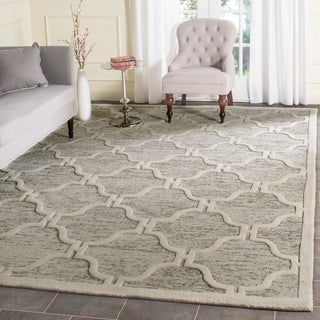 Safavieh Handmade Cambridge Light Brown/ Ivory Wool Rug (8' x 10')