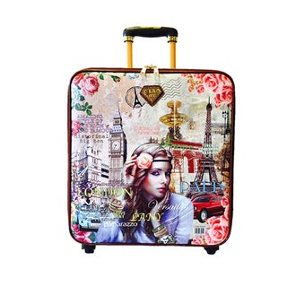 LANY Vintage 16-inch Carry On Spinner Travel Suitcase