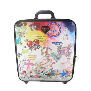 LANY Make A Wish 16-inch Carry On Spinner Travel Suitcase