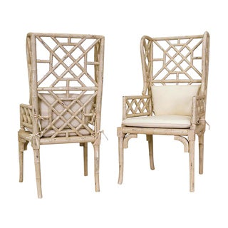 Bamboo Wing Back Chair (Set of 2)