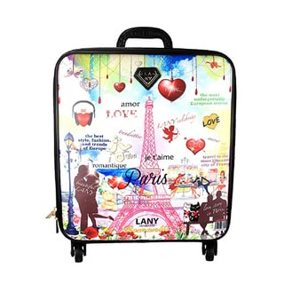 LANY Romance 16-inch Carry On Spinner Travel Suitcase