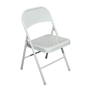 Off-white Steel Folding Chair (Set of 4)