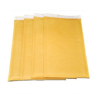 DVD-size Self-seal Brown Kraft Bubble Mailers 7.25 x 9.75 Padded Envelopes (Pack of 400)