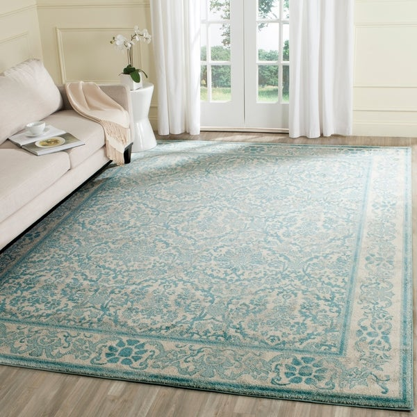 Safavieh Evoke Vintage Oriental Ivory / Light Blue Distressed Rug - 8' x 10'