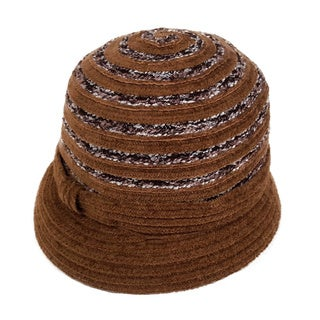 Swan Women's Stripes Chenille Ribbon Casual Hat
