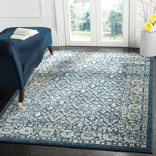 Safavieh Evoke Vintage Oriental Navy Blue/ Gold Distressed Rug - 9' x 12'