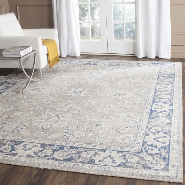 Shop Safavieh Patina Taupe Blue Rug 6 7 Square Free
