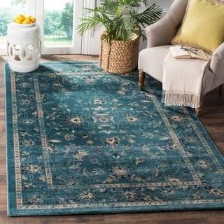 Safavieh Evoke Turquoise/ Beige Rug (2' x 8')