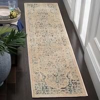 Safavieh Evoke Vintage Oriental Beige/ Turquoise Distressed Rug - 2' x 8'