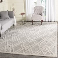 Safavieh Handmade Cambridge Modern Light Taupe/ Ivory Wool Rug - 6' x 6' Square