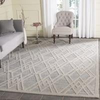 Safavieh Handmade Cambridge Modern Grey/ Ivory Wool Rug - 6' x 6' Square