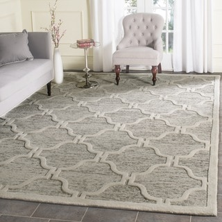 Safavieh Handmade Cambridge Light Brown/ Ivory Wool Rug (6' Square)