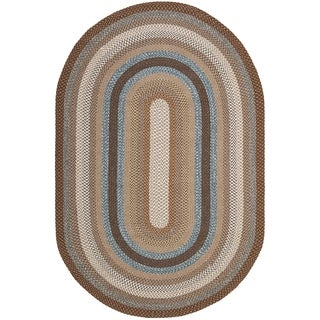 Safavieh Hand-woven Braided Brown/ Multi Rug (10' x 14' Oval)