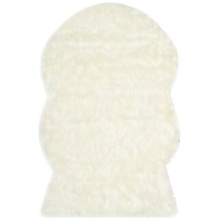 Safavieh Handmade Faux Sheepskin Ivory Japanese Acrylic Rug (2' x 3')
