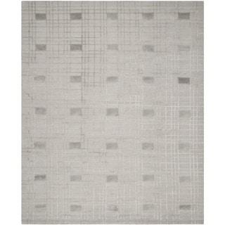 Safavieh Hand-knotted Tibetan Geometric Eucalyptus Wool Rug (9' x 12')