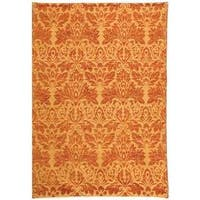 Safavieh Hand-knotted Santa Fe Contemporary Wicker/ Rust Wool Rug - 8' x 10'