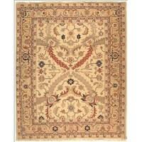 Safavieh Hand-woven Sumak Ivory/ Gold Wool Rug - 8' x 10'
