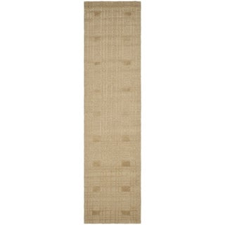 Safavieh Hand-knotted Tibetan Geometric Sand Wool Rug (2'6 x 10')