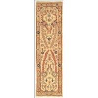 Safavieh Hand-woven Sumak Ivory/ Gold Wool Rug - 2'3 x 8'
