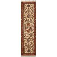 Safavieh Hand-woven Sumak Ivory/ Rust Wool Rug - 2'3 x 8'