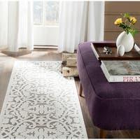 Safavieh Paradise Ivory/ Dark Grey Viscose Rug - 2' x 7'