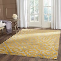 Safavieh Porcello Contemporary Moroccan Light Grey/ Yellow Rug - 9' x 12'