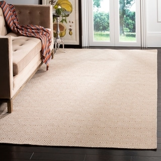 Safavieh Hand-woven Oasis Brown/ Ivory Wool Rug (9' x 12')