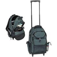 Goodhope Grey Heavy-duty Rolling 17-inch Laptop Backpack