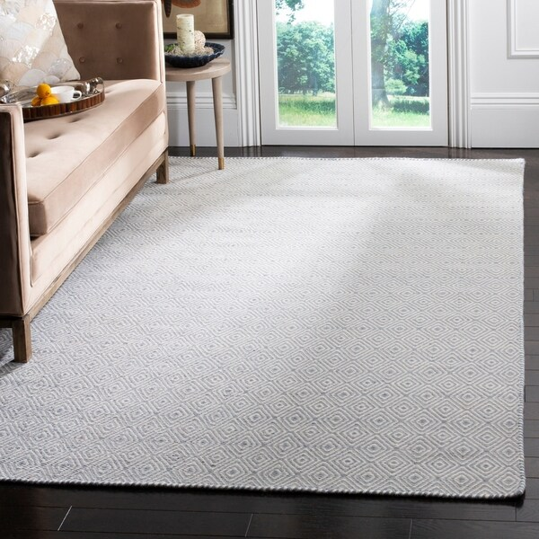 Safavieh Hand-woven Oasis Silver/ Ivory Wool Rug - 8' x 10'