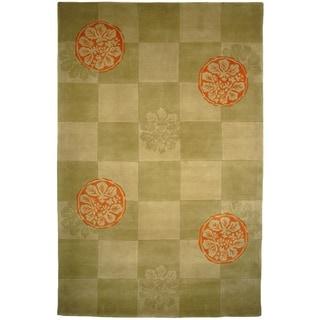 Safavieh Handmade Mandarin Sage Wool Rug (9' x 12')