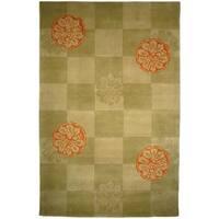 Safavieh Handmade Mandarin Sage Wool Rug - 9' x 12'